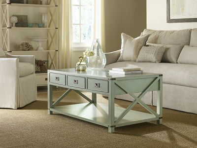 Shackleford Island Cocktail Table in Blueberry Crisp Retail $2,208