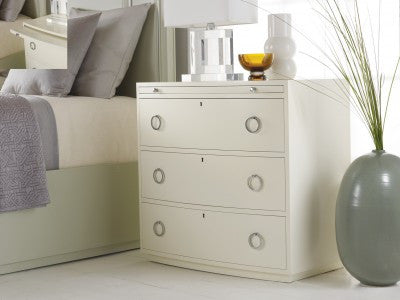Transitions Bowfront Bedside Chest in Fresh- Retail $2544