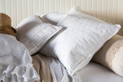 Capri Accent Pillow in Winter White