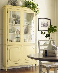 Cumberland Cabinet in Creme Brulee with Vanilla Bean Interior - Retail $6,228.00