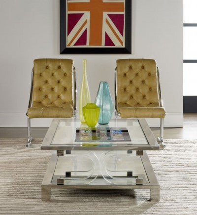 Midtown Cocktail Table/ Modern History/ retail $5394