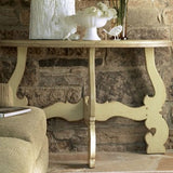Sonoma Half Round Small Table in Vanilla Bean - Retail $1,734.00