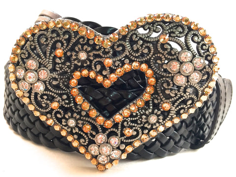 Heart Belt Buckle Gold