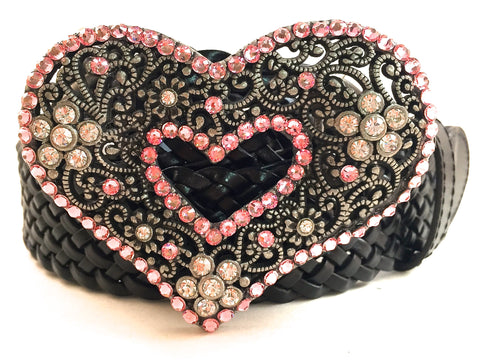 Heart Belt Buckle Pink
