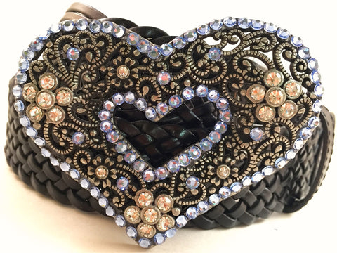 Heart Belt Buckle Blue