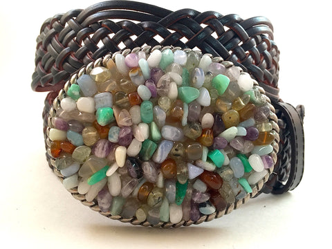 Gemstone Buckle Multi Colored