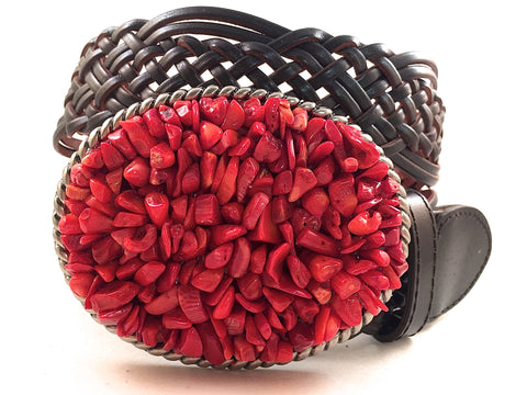 Gemstone Buckle Red Coral