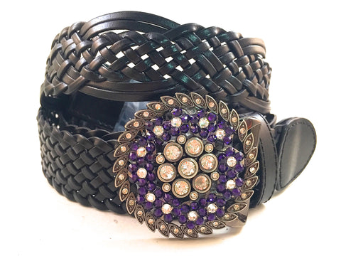 Round CZ and Black Purple
