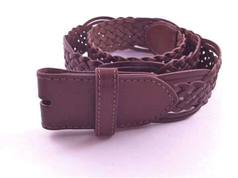Woven Snap Belt Brown