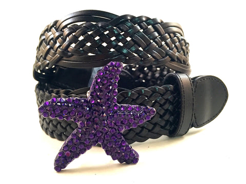 Starfish Belt Buckle Purple