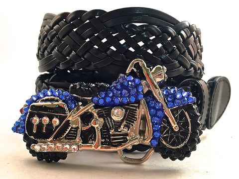 Motorcycle Buckle Sapphire Blue