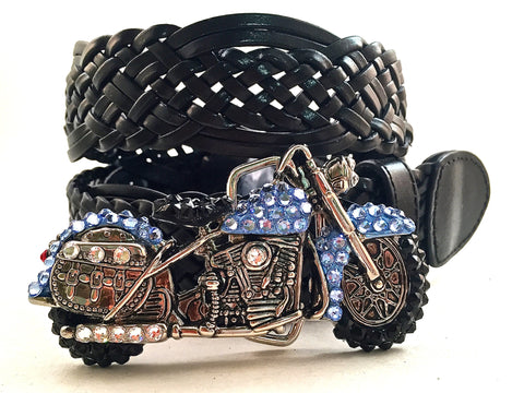 Motorcycle Buckle Light Blue