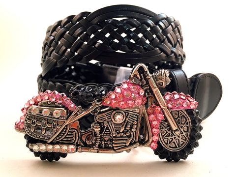 Motorcycle Buckle Pink