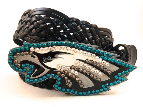Philadelphia Eagles Swarovski Crystal Buckle and Belt