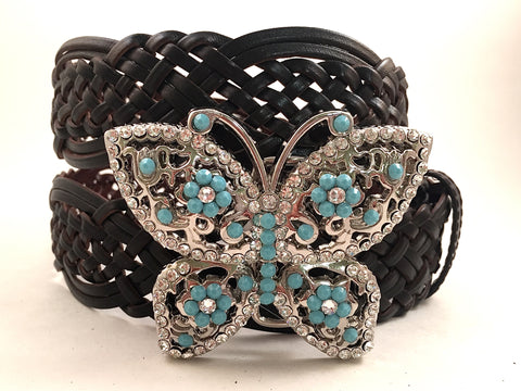 Butterfly Buckle Turquoise Crystals