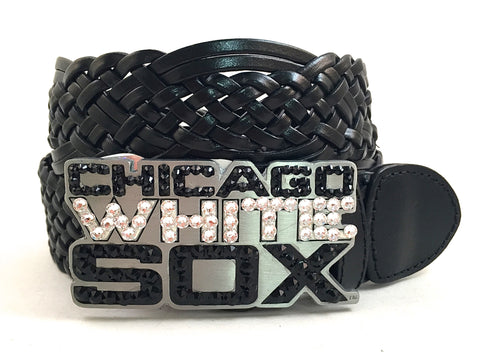 Chicago White Sox Swarovski Crystal Buckle and Belt
