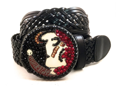 Florida State Swarovski Crystal Buckle and Belt