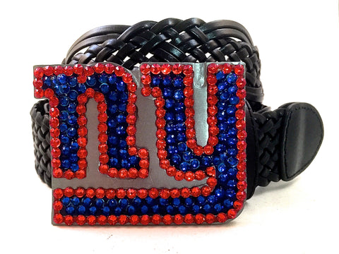 New York Giants Swarovski Crystal Buckle and Belt