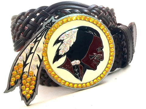 Washington Redskins Swarovski Crystal Buckle and Belt