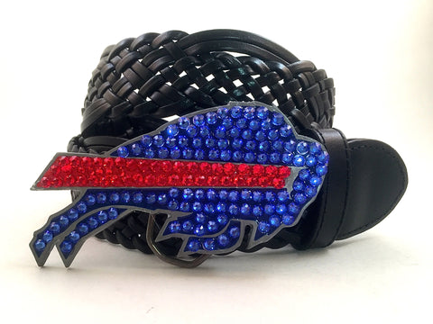 Buffalo Bills Swarovski Crystal Buckle and Belt