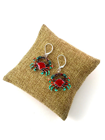 Earrings Crab