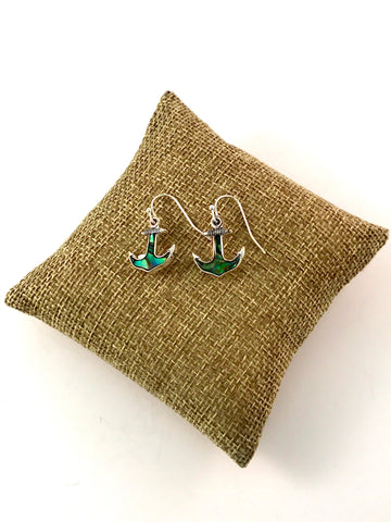 Earrings Anchor Abalone