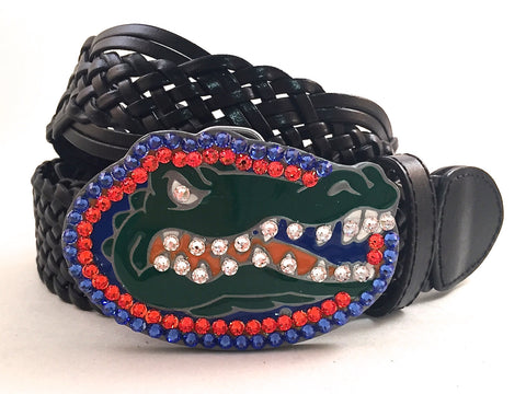 University of Florida Gator Swarovski Crystal Buckle and Belt