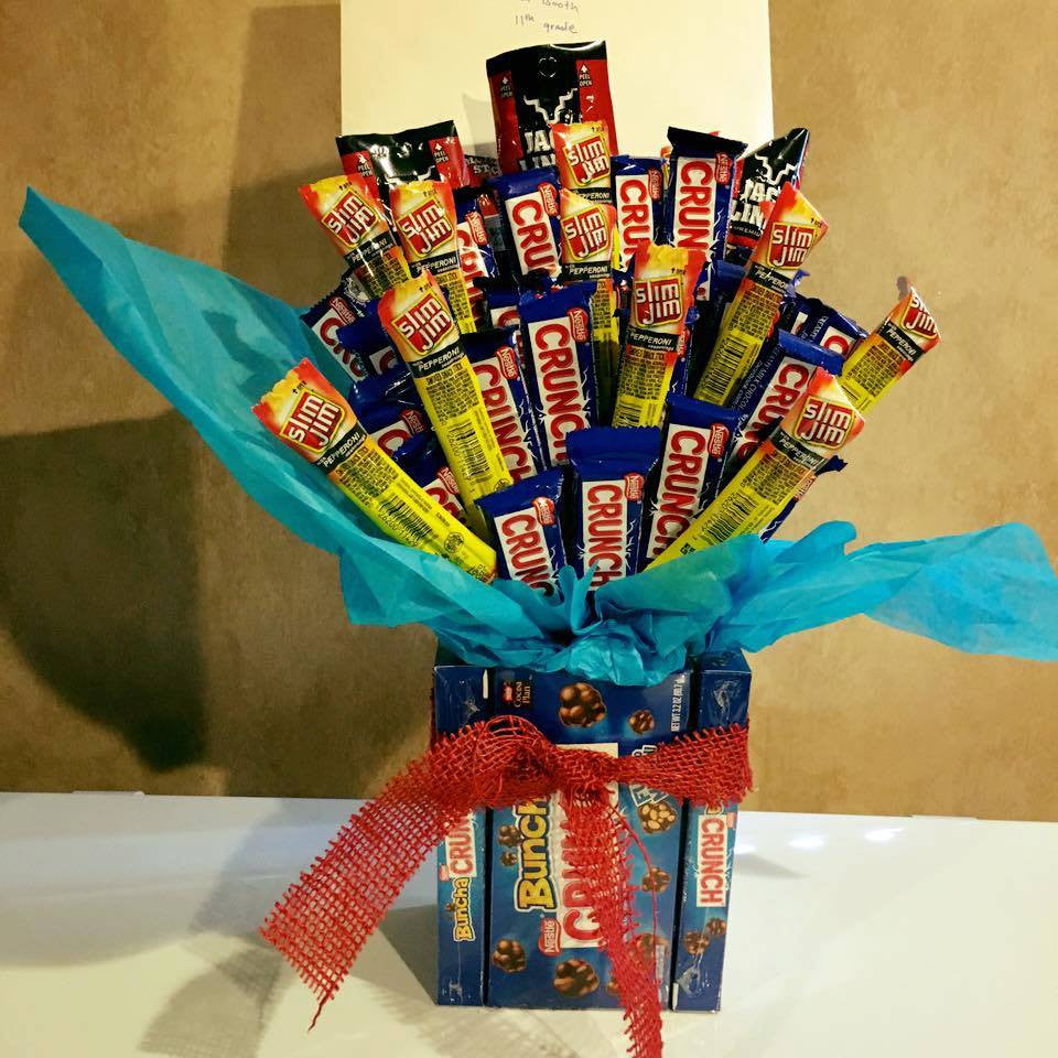 Father's Day Crunch and Beef Jerky Box Candy Bouquet