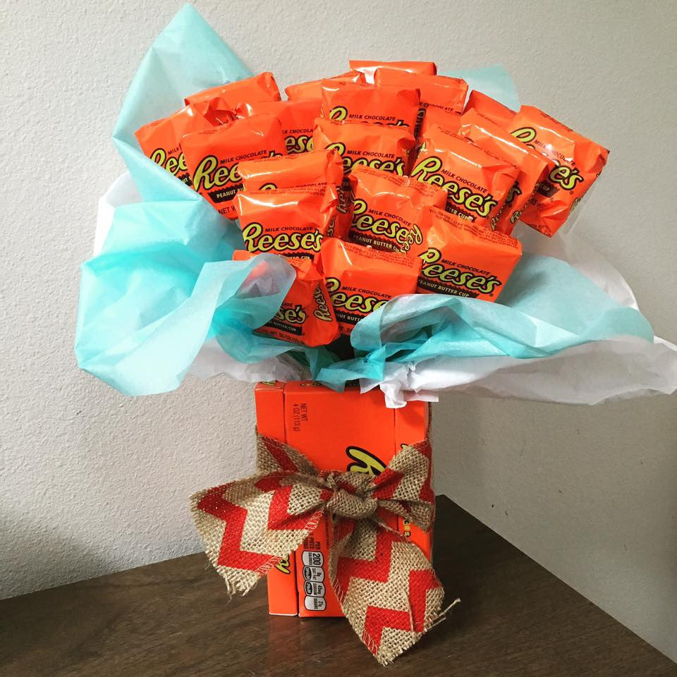 Father's Day Reeses Box Candy Bouquet