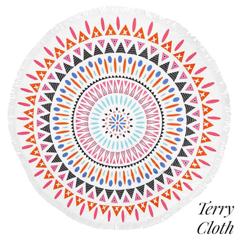 "Beach Towel Roundie 60"" diameter"