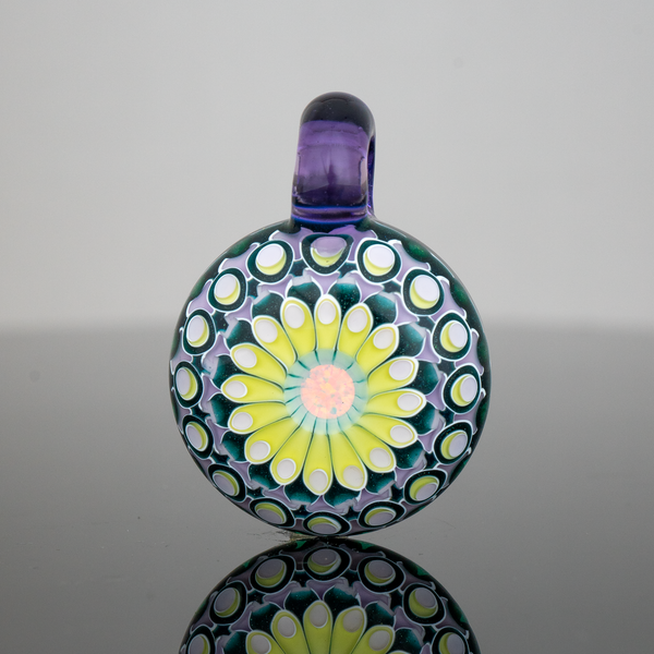 Olour Glass 6mm Opal Pendant - Potion & Green Stardust