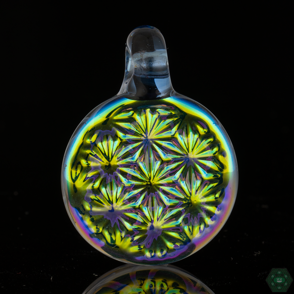 Cone 12 Flat Glass Sacred Geo Pattern -Raindrop