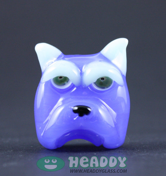Swanny Glass shorty bull pendant - Headdy Glass