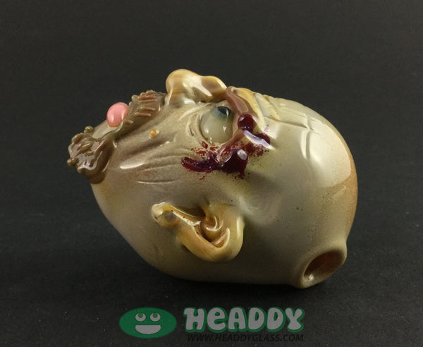 Ghost 'tread lightly' pendant - Headdy Glass