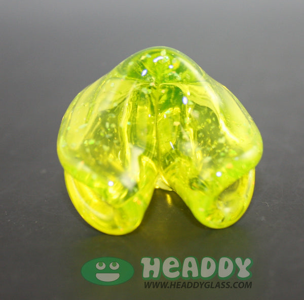 Dux Glass half life opal tech fortune cookie pendant - Headdy Glass