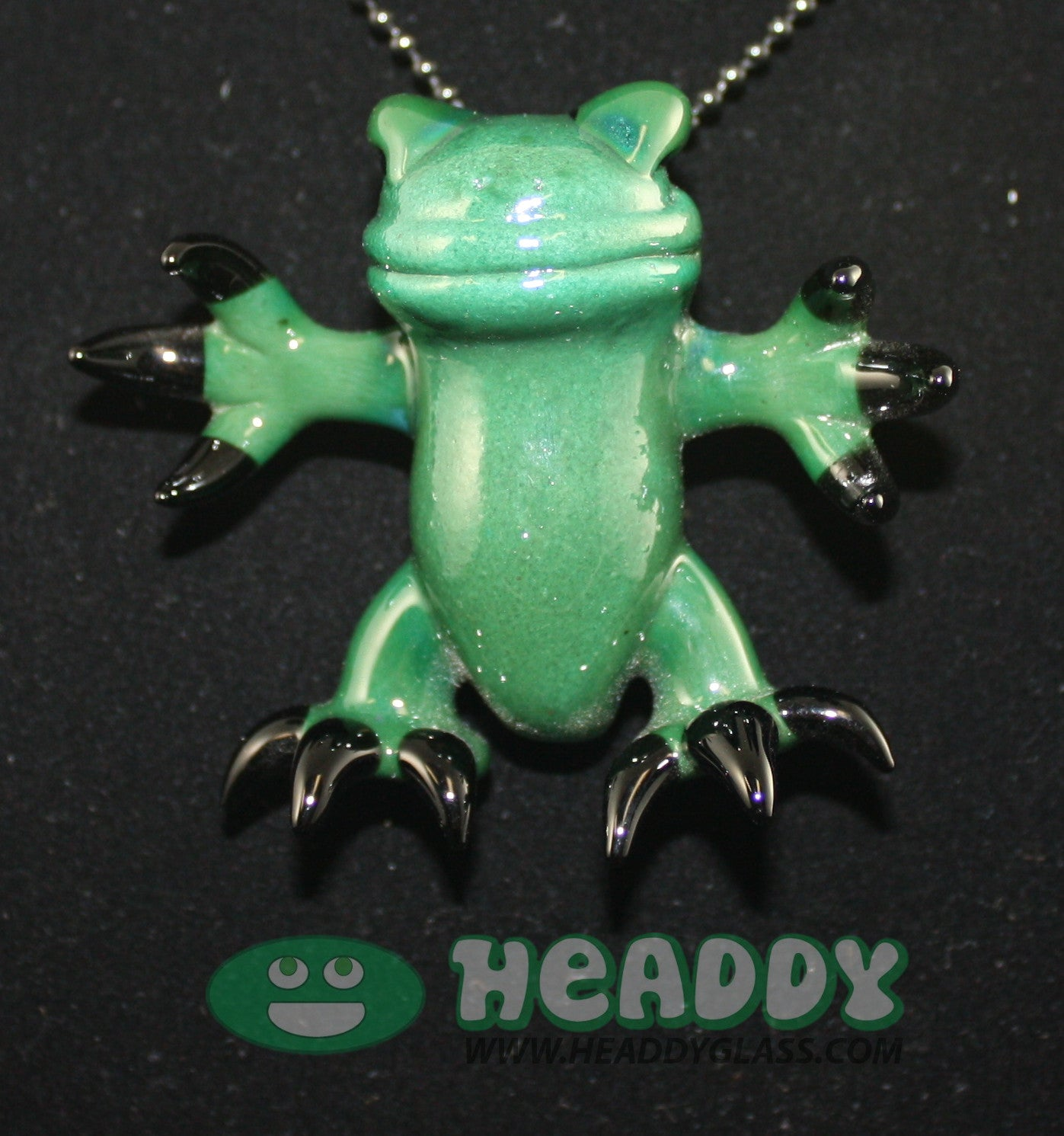 Gemini Andy critter pendant #16 - Headdy Glass