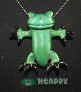 Gemini Andy critter pendant #17 - Headdy Glass
