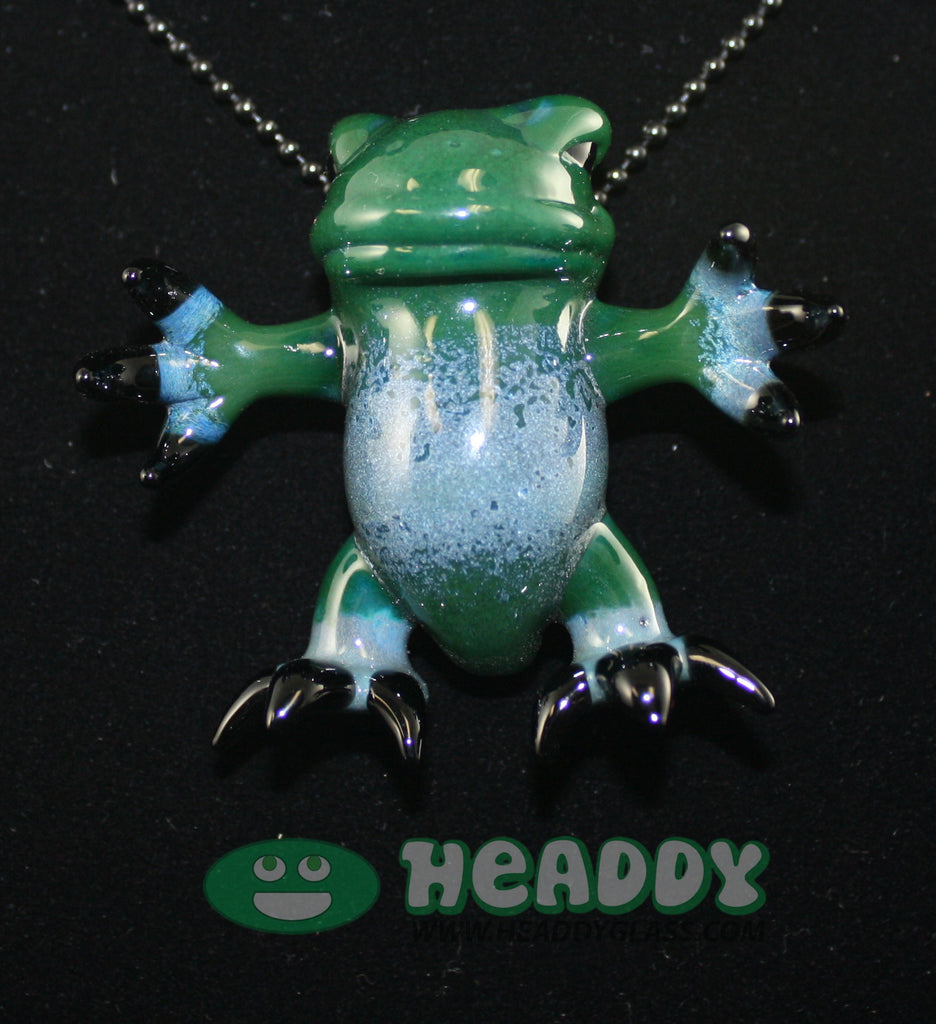 Gemini Andy critter pendant #18 - Headdy Glass
