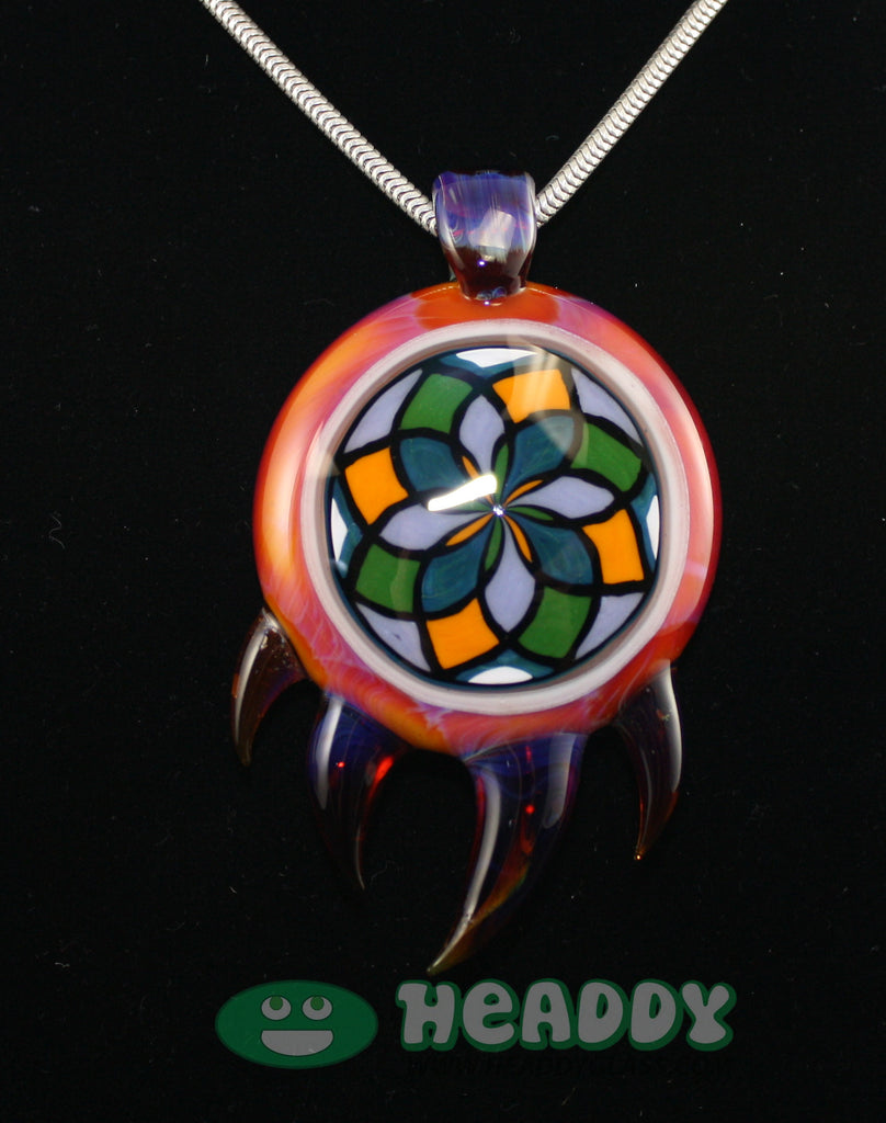 Bearclaw filla pendant #7 - Headdy Glass