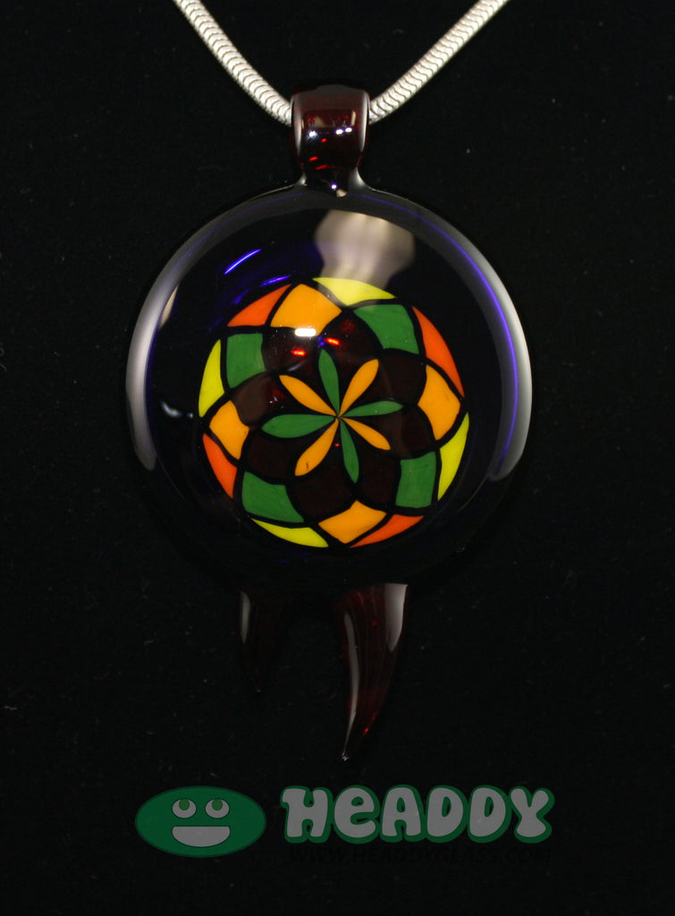 Bearclaw filla pendant #4 - Headdy Glass