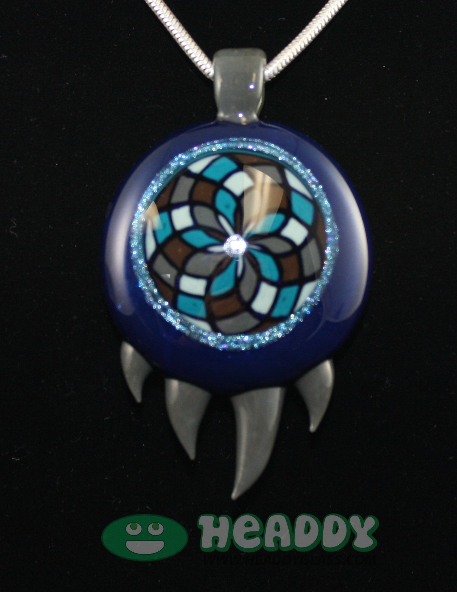 Bearclaw filla pendant #5 - Headdy Glass