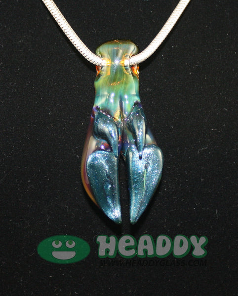 Joel Halen pig foot pendant 3 - Headdy Glass