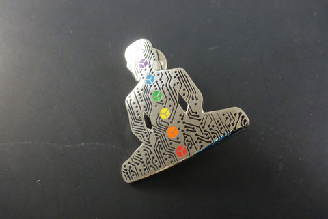Digital Buddha 2.0 pin - Headdy Glass