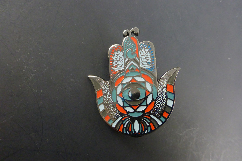 G sprout hamsa pin - Headdy Glass