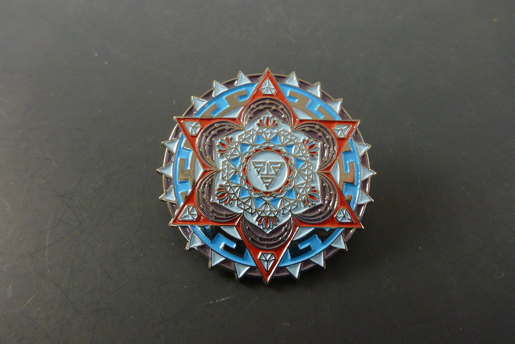Red aztec diamond pin