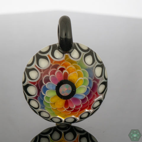RL Funktional Art Double Layer Rainbow Spiral Pendant