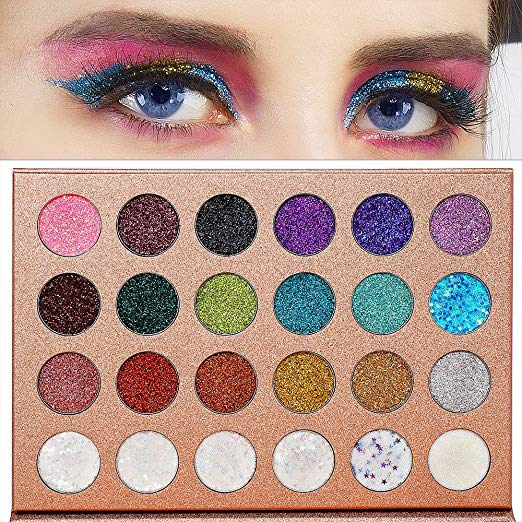 Glitter eyes with palette