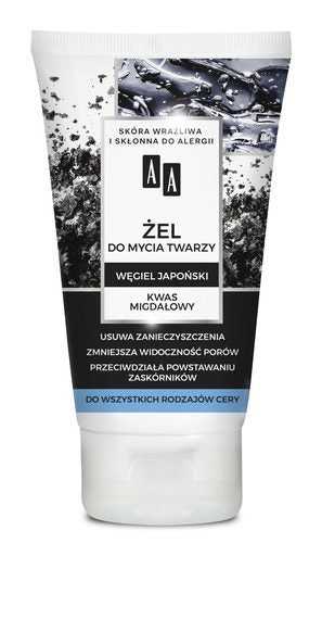 AA Carbon and Clay Charcoal Face Wash Gel with Japanese Carbon - 150 ml