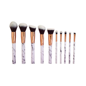 Glamore Cosmetics 10 Piece Brush Set + Brush Box