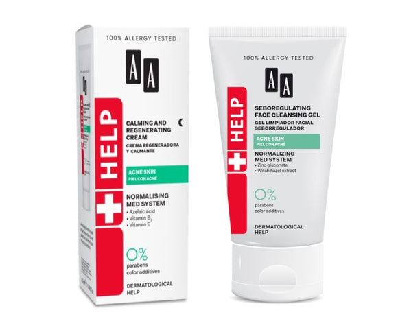 Acne cream and face wash